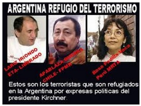 TERRORISTAS REFUJIADOS en ARGENTINA