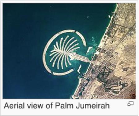 DUBAI ISLA ARTIFICIAL VISTA DESDE EL AIRE